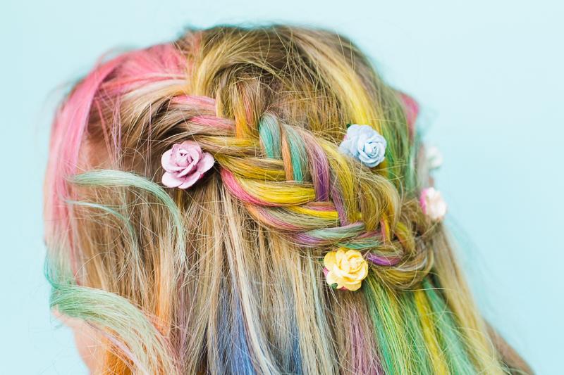 Rainbow wedding ideas hair Bespoke-bride.com