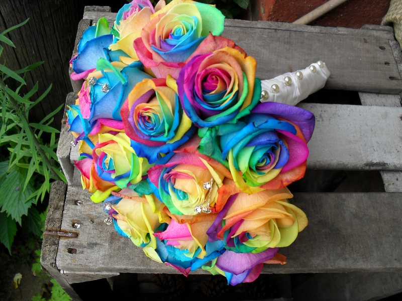Wedding Flowers: rainbow wedding flowers