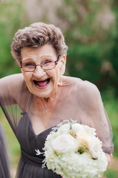 Bride has her 89-year-old Nana as bridesmaid