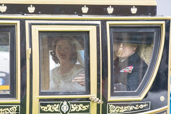 Queen's wedding to Philip brought to life for royal love story