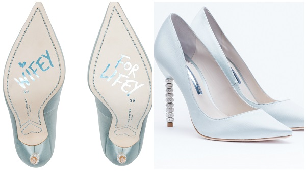 Traditional girl 8 ways to add something blue to your wedding for Sophia webster wedding shoes