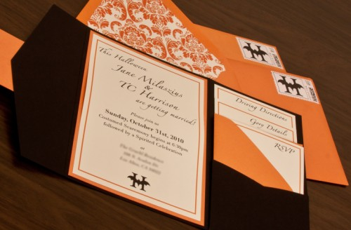 Halloween wedding inviation