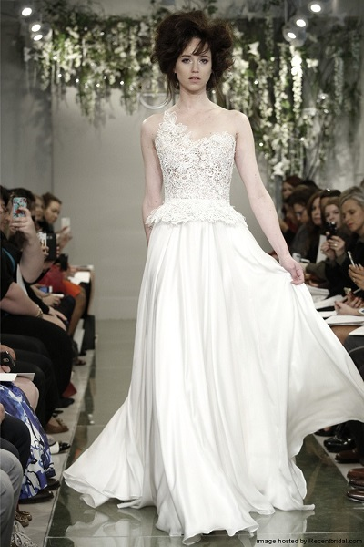 Top ten pretty peplum wedding dresses to flatter your figure