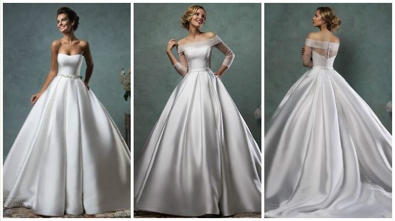 20 flattering satin wedding dresses