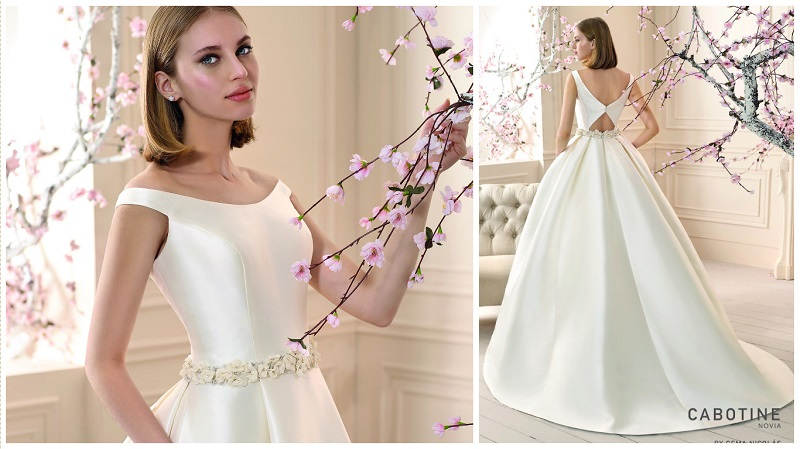 Chic And Simple Wedding Dresses By Cabotine: Top Trend! Satin Wedding Dresses Are Back In A Big Way
