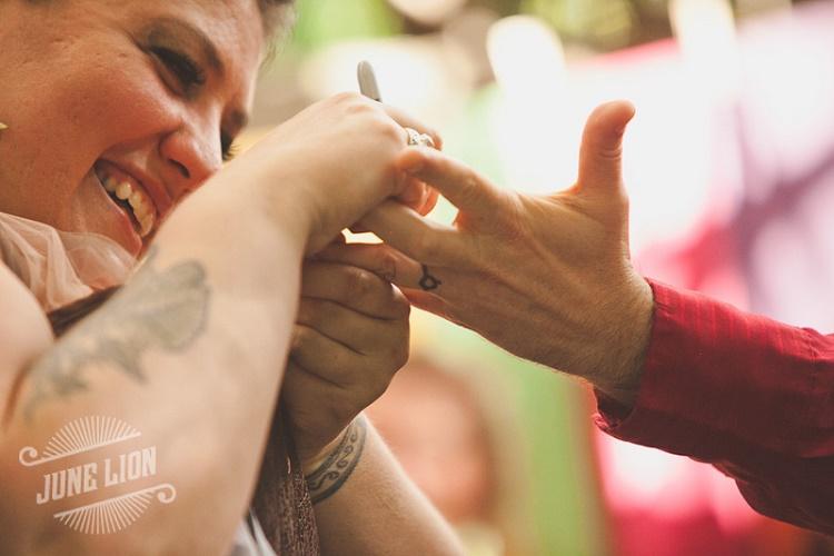 bride alternative wedding rings