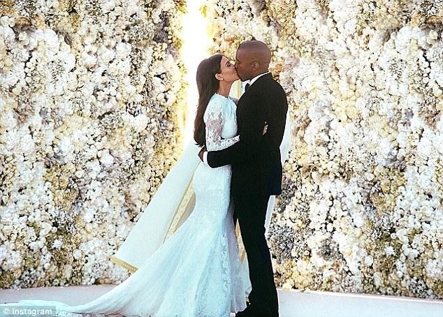 Kim Kardashian's wedding photo