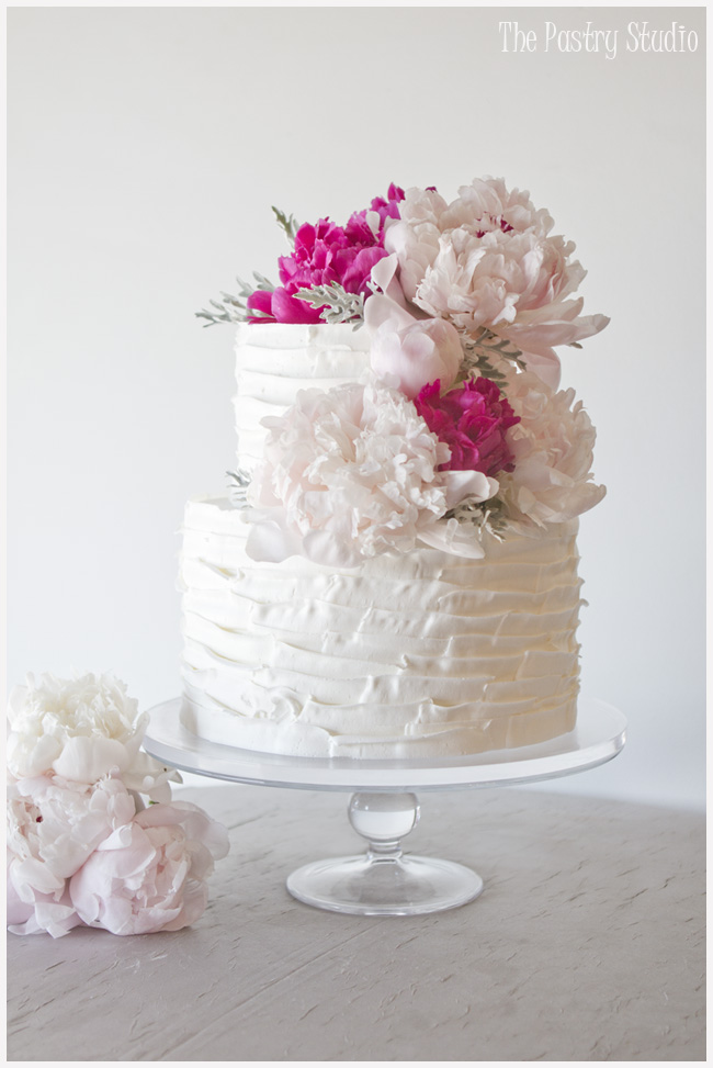 Peony wedding cake Thepastrystudio.com
