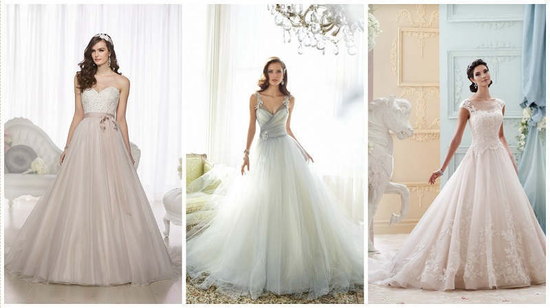 Tulle wedding dresses - colour