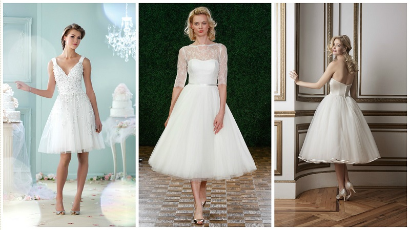 Tulle wedding dresses - short