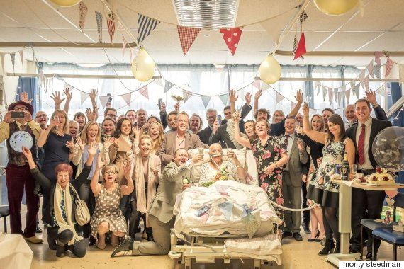 A groom organises wedding in 24 hours for terminally ill partner