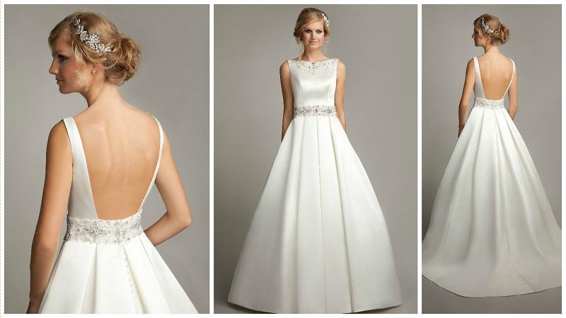 30 flattering satin wedding dresses