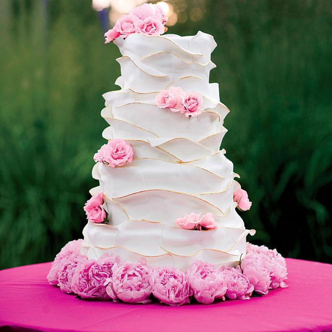 peony wedding cake Brides.com