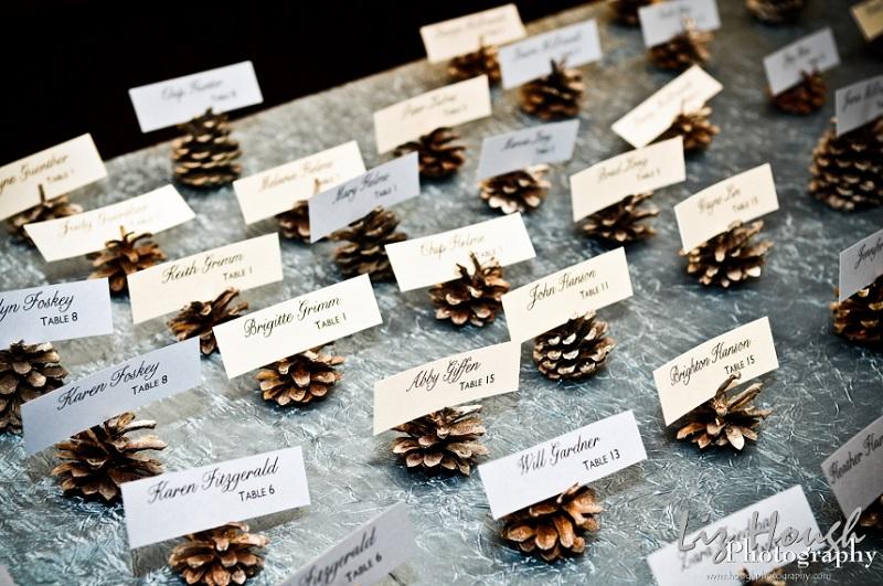 pine-cone-escort-cards. Intimateweddings.com