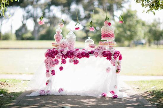Pink peony dessert table. Invitationstyles.com