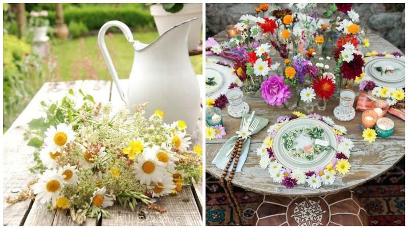 wild daisies wedding inspiration