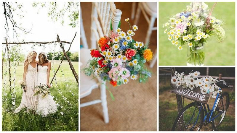 wild daisy wedding inspiration