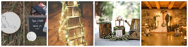 Woodland Wedding venue inspiration collage