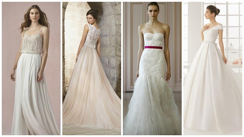 New trend alert! Pleated wedding dresses