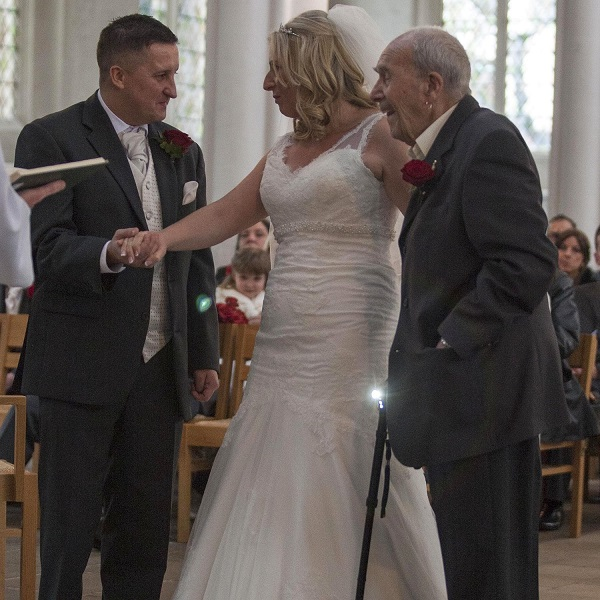 104-year-old grandfather becomes oldest 'father of the bride'