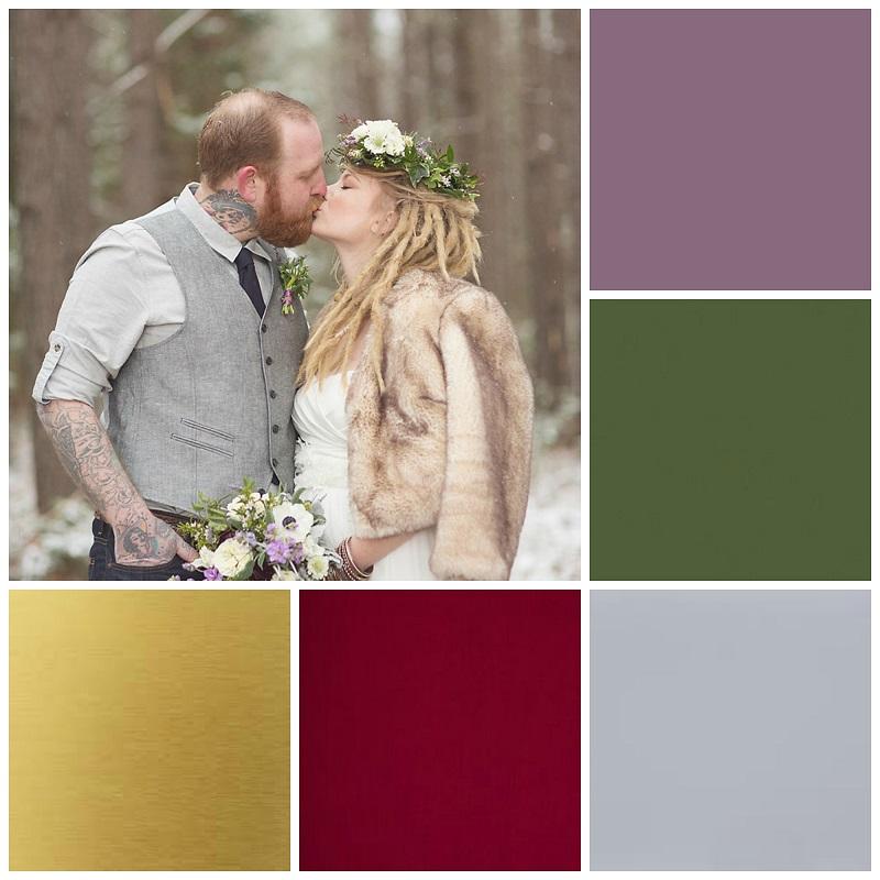 woodland wedding colour collage