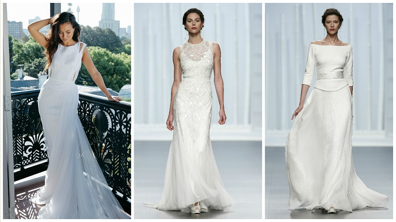 Bodices with pleats or ruching can also create the appearance of a bigger bust.
