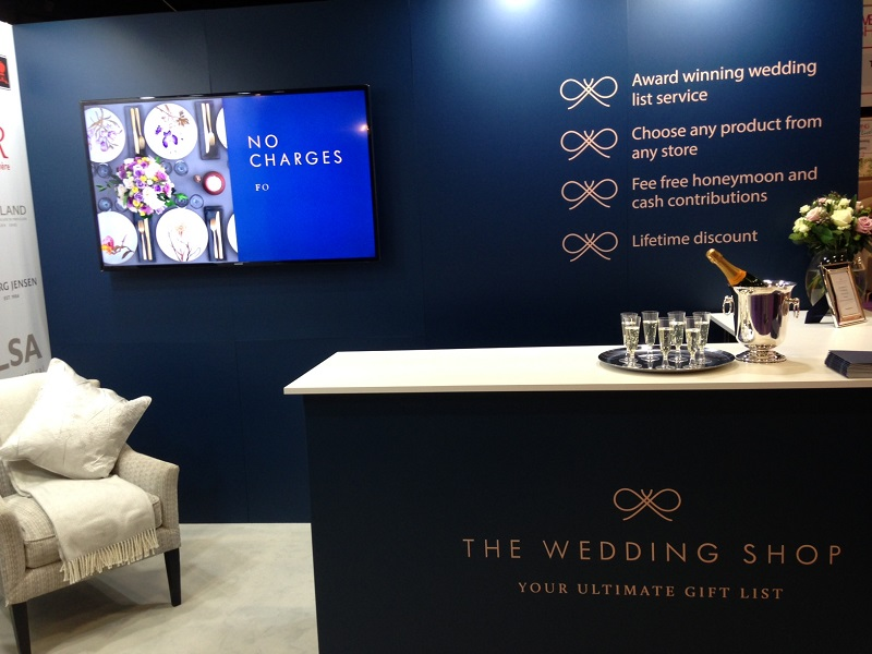 The Wedding Shop was named 'best Stand' for this stylish set-up