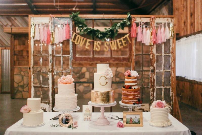 wedding trends dessert table