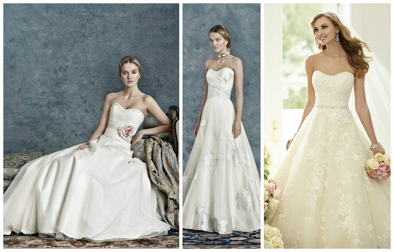 Top 40 strapless wedding dress styles