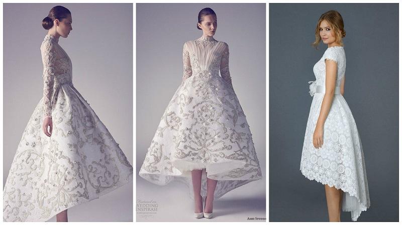 asymmetrical wedding dresses 2