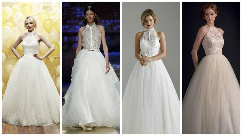Sweet 16 – the very latest halterneck wedding dresses