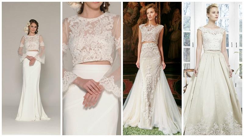 two-piece wedding dress 6