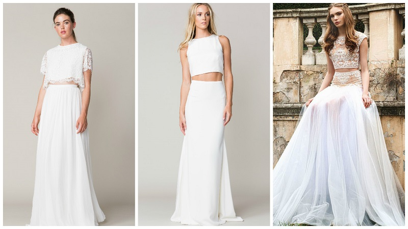 two-piece wedding dress 4