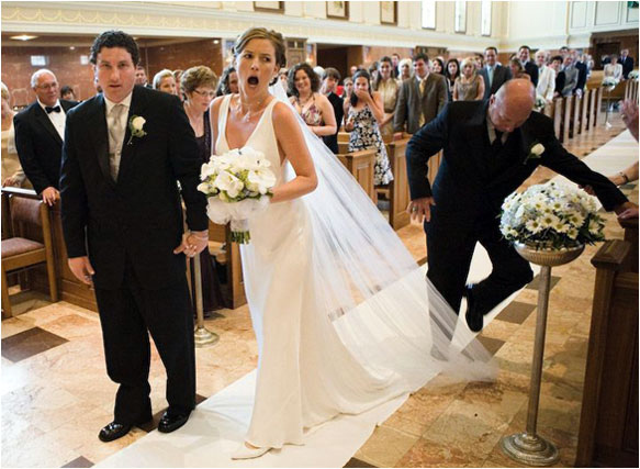 Wedding day fails - wardrobe problems