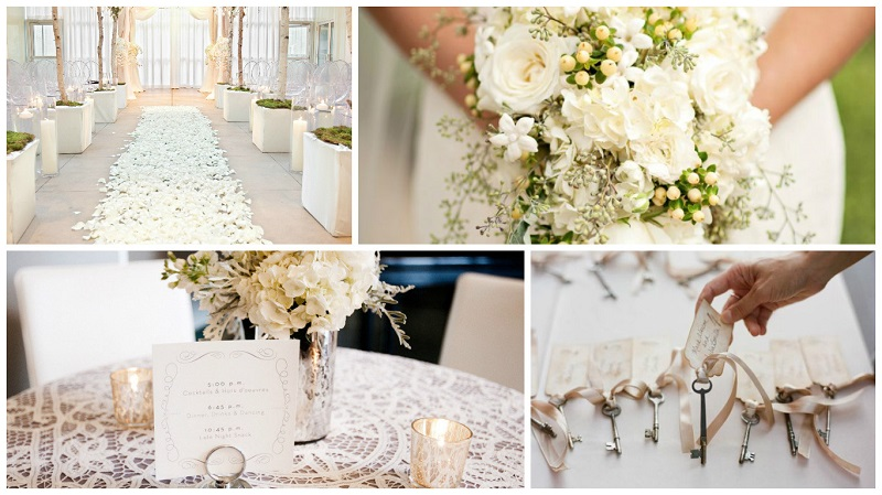 castle wedding styling - ivory