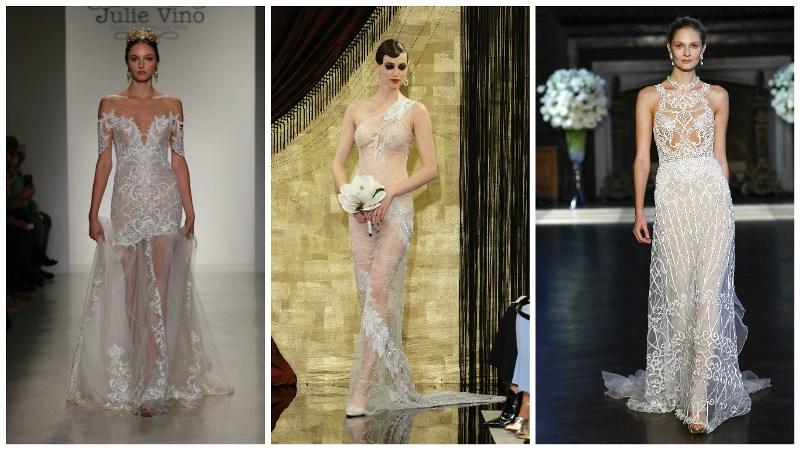sheer wedding dress trend