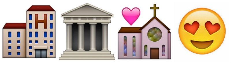 planning a wedding as told by emojis