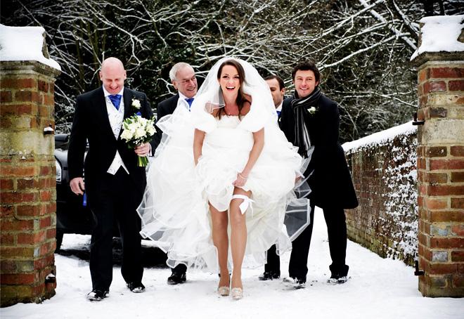 weddding day fails snow