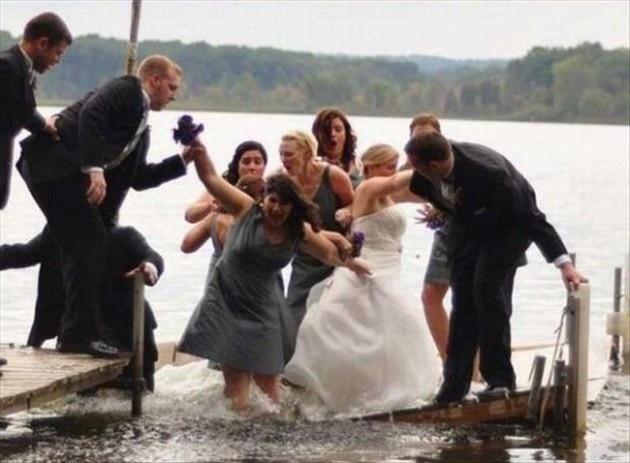 wedding day fails jetty