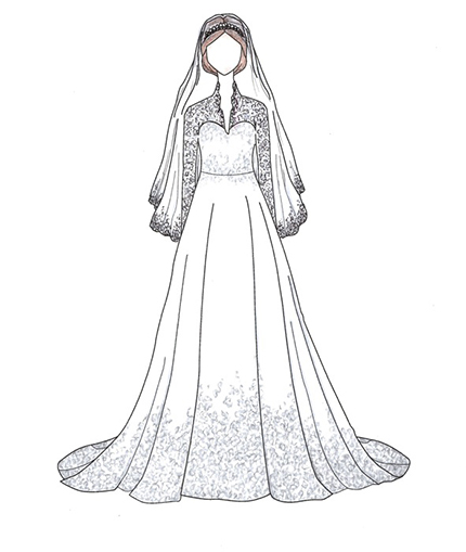 Designer Claims Kate Middleton S Wedding Dress Was Copyrighted From Her Work Wedding Journal