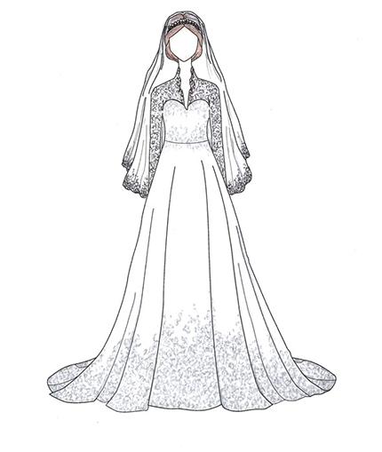 kate middleton royal wedding dress copyright