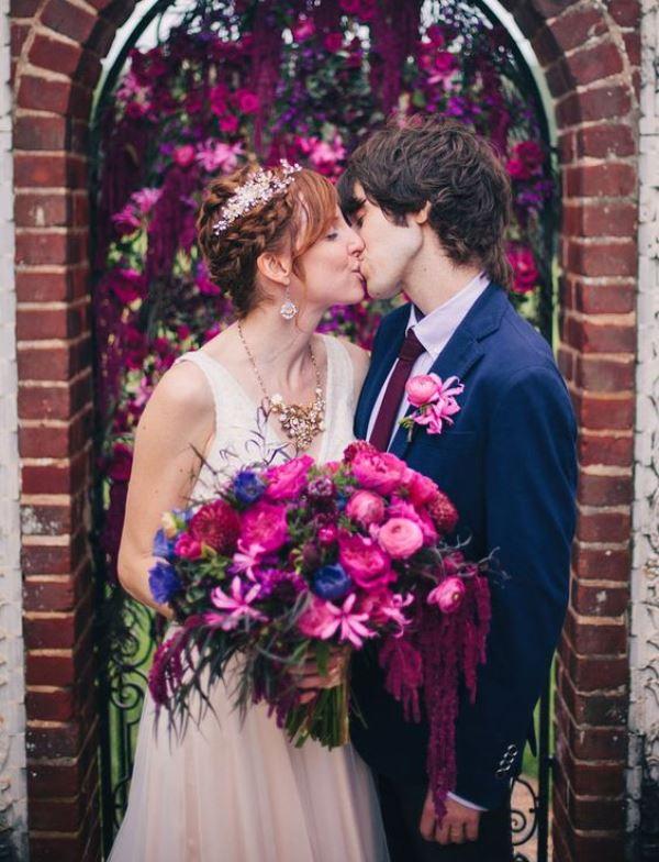 navy and fuschia wedding colour inspiration 7