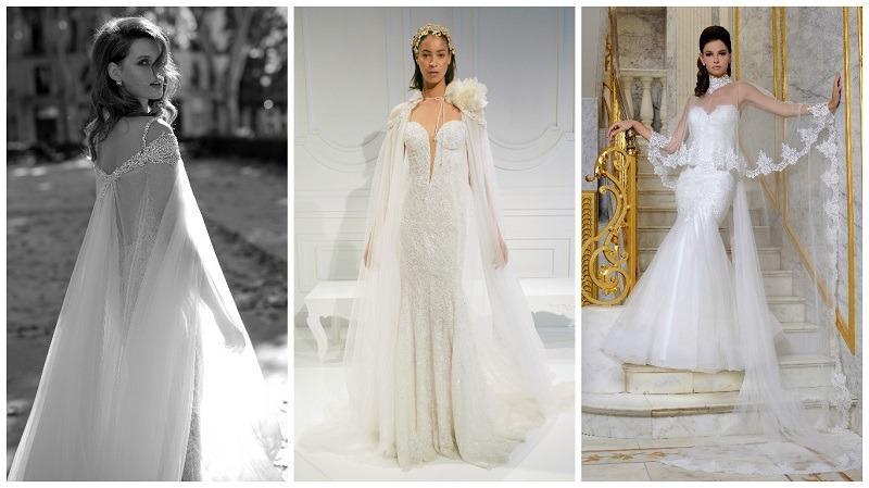 wedding dress capes