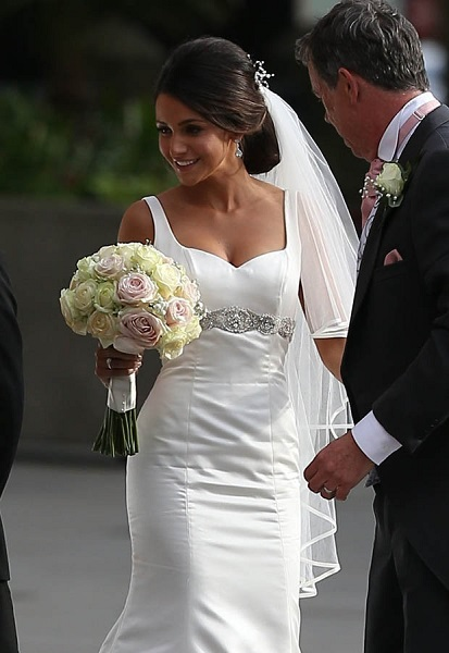 Michelle keegan wears a wedding dress for the second time for Michelle keegan wedding dress