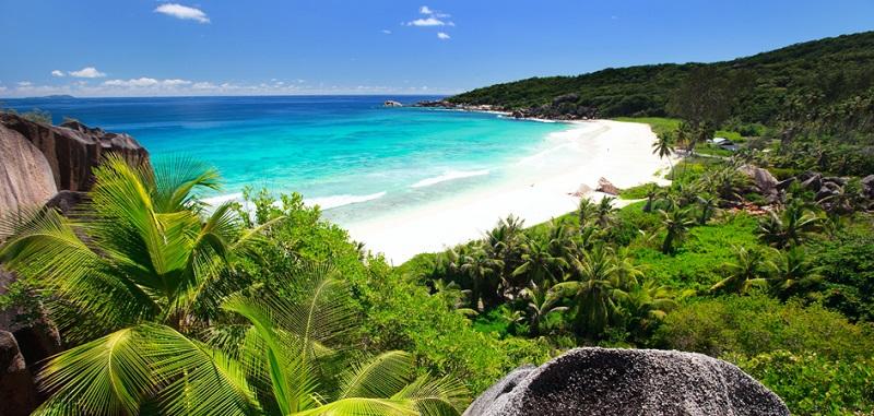 Grand Anse on La Digue island in Seychelles