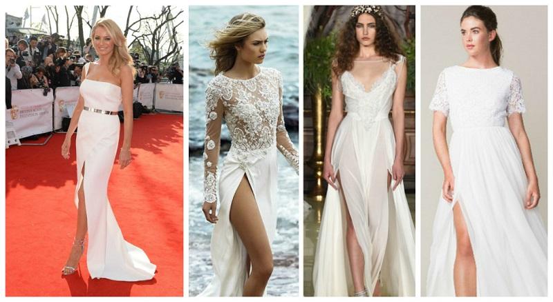 thigh split wedding dress