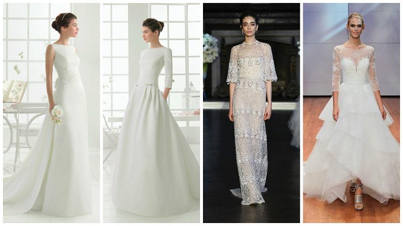 wedding dresses with high necks 2