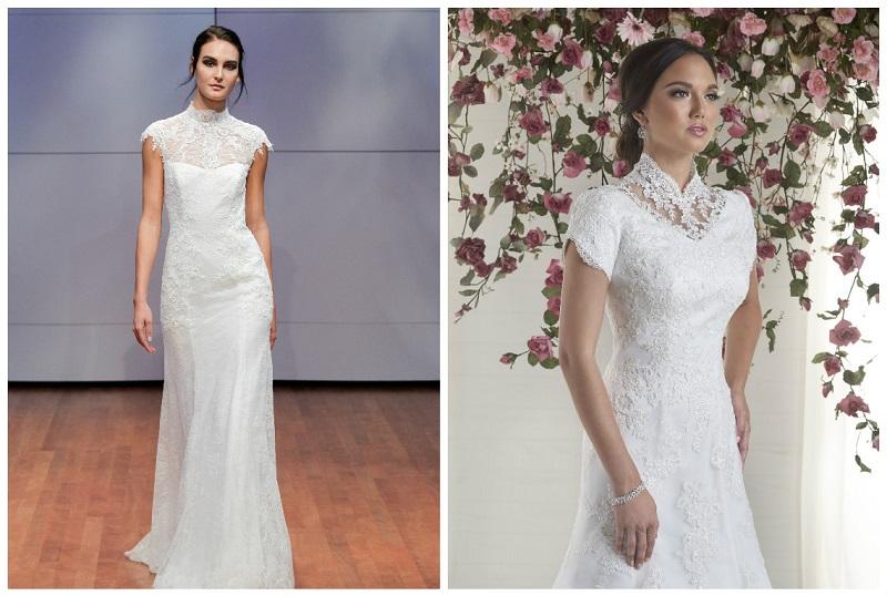 wedding dresses with high necks 6