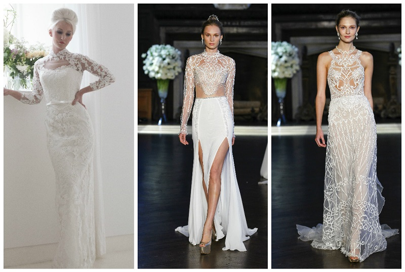 wedding dresses with high necks 5