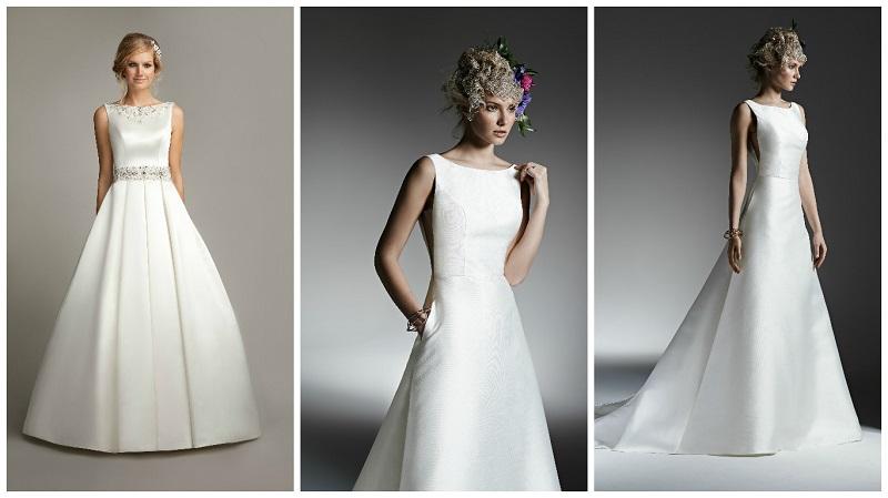 wedding dresses with high necklines